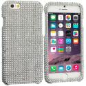 Apple iPhone 6 Plus 6S Plus (5.5) Silver Bling Rhinestone Case Cover Angle 1