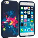 Apple iPhone 6 Plus 6S Plus (5.5) Pink Blue Star TPU Design Soft Rubber Case Cover Angle 1