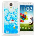 Samsung Galaxy S4 Blue Fish Tank 3D Liquid Hard Case Cover Angle 1