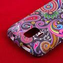 ZTE Radiant/ Sonata 4G - Black Paisley MPERO SNAPZ - Rubberized Case Cover Angle 6