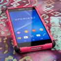 Sony Xperia Z2 - Hot Pink MPERO IMPACT SR - Kickstand Case Cover Angle 2