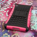 Sony Xperia Z2 - Hot Pink MPERO IMPACT SR - Kickstand Case Cover Angle 3