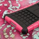 Sony Xperia Z2 - Hot Pink MPERO IMPACT SR - Kickstand Case Cover Angle 6