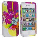 Apple iPhone 4 Love Flower Design Crystal Hard Case Cover Angle 2