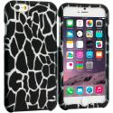 Apple iPhone 6 6S (4.7) Black Giraffe 2D Hard Rubberized Design Case Cover Angle 1