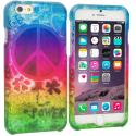 Apple iPhone 6 Plus 6S Plus (5.5) Flower Power 2D Hard Rubberized Design Case Cover Angle 1
