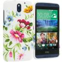 HTC Desire 610 Flower Painting TPU Design Soft Rubber Case Cover Angle 1