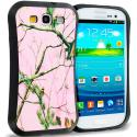 Samsung Galaxy S3 Pink Tree Hybrid TPU Hard Soft Shockproof Drop Proof Case Cover Angle 1