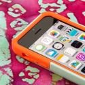 Apple iPhone 5C - Coral/ Mint MPERO IMPACT X - Kickstand Case Cover Angle 5