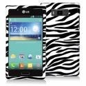 LG Splendor US730 Black / White Zebra Design Crystal Hard Case Cover Angle 1