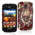 Samsung Proclaim S720C Gorgeous Skull Hard Rubberized Design Case Cover Angle 1