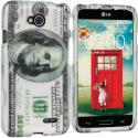 LG Optimus L90 Hundred Dollars 2D Hard Rubberized Design Case Cover Angle 1