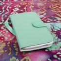 BLU Studio 5.5 - Mint MPERO FLEX FLIP Wallet Case Cover Angle 2