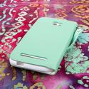 BLU Studio 5.5 - Mint MPERO FLEX FLIP Wallet Case Cover Angle 3