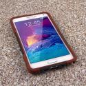 Samsung Galaxy Note 4 - Sandstone / Gray MPERO IMPACT X - Kickstand Case Angle 2