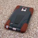 Samsung Galaxy Note 4 - Sandstone / Gray MPERO IMPACT X - Kickstand Case Angle 3