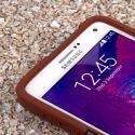 Samsung Galaxy Note 4 - Sandstone / Gray MPERO IMPACT X - Kickstand Case Angle 5