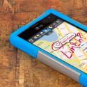 T-Mobile LG Optimus F3- BLUE/GRAY MPERO IMPACT X - Kickstand Case Cover Angle 5