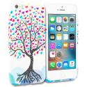 Apple iPhone 5/5S/SE Love Tree on White TPU Design Soft Rubber Case Cover Angle 1