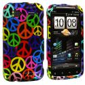 HTC Sensation 4G Peace Sign Design Crystal Hard Case Cover Angle 1