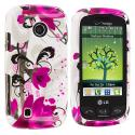 LG Cosmos Touch VN270 Red Flower Design Crystal Hard Case Cover Angle 1