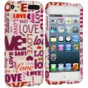 Apple iPod Touch 5th 6th Generation Lots Of Love Hard Rubberized Design Case Cover Angle 1