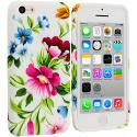 Apple iPhone 5C Flower Painting TPU Design Soft Case Cover Angle 1