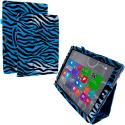 Microsoft Surface Pro 3 Blue Zebra Folio Pouch Flip Case Cover Stand Angle 1