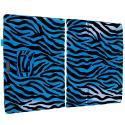 Microsoft Surface Pro 3 Blue Zebra Folio Pouch Flip Case Cover Stand Angle 2