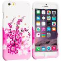 Apple iPhone 6 6S (4.7) Spring Flowers Hard Rubberized Design Case Cover Angle 1