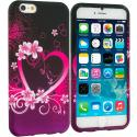 Apple iPhone 6 Plus 6S Plus (5.5) Purple Love TPU Design Soft Rubber Case Cover Angle 1