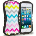 Apple iPod Touch 5th 6th Generation White Wave Hybrid TPU Hard Soft Shockproof Drop Proof Case Cover Angle 1