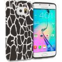 Samsung Galaxy S6 Edge Black Giraffe TPU Design Soft Rubber Case Cover Angle 1