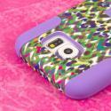 Samsung Galaxy S6 - Purple Rainbow Leopard MPERO IMPACT X - Kickstand Case Angle 6