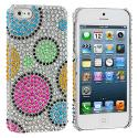 Apple iPhone 5/5S/SE Colorful Hubble Bubble Bling Rhinestone Case Cover Angle 1