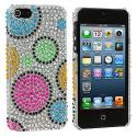 Apple iPhone 5/5S/SE Colorful Hubble Bubble Bling Rhinestone Case Cover Angle 2