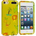 Apple iPod Touch 5th 6th Generation Zoo Hard Rubberized Design Case Cover Angle 1