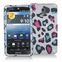 Pantech Discover Colorful Leopard Bling Rhinestone Case Cover Angle 1