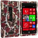 Nokia Lumia 928 Gorgeous Skull Hard Rubberized Design Case Cover Angle 1