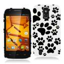 ZTE Force N9100 Dog Paw Hard Rubberized Design Case Cover Angle 1