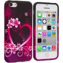 Apple iPhone 5C Purple Love TPU Design Soft Case Cover Angle 1