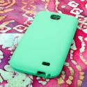 BLU Studio 5.3 II - Mint Green MPERO SNAPZ - Rubberized Case Cover Angle 3