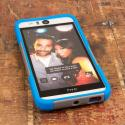 HTC Desire EYE - Blue / Gray MPERO IMPACT X - Kickstand Case Cover Angle 2