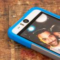 HTC Desire EYE - Blue / Gray MPERO IMPACT X - Kickstand Case Cover Angle 5