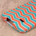 LG Lucid 3 - Mint Chevron MPERO SNAPZ - Case Cover Angle 6