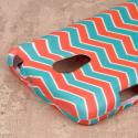 LG Lucid 3 - Mint Chevron MPERO SNAPZ - Case Cover Angle 7