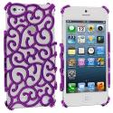Apple iPhone 5/5S/SE Purple Floral Crystal Hard Back Cover Case Angle 4