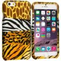 Apple iPhone 6 Mix Animal Skin 2D Hard Rubberized Design Case Cover Angle 1