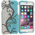 Apple iPhone 6 Plus 6S Plus (5.5) Sprout Flower Cane Bling Rhinestone Case Cover Angle 1