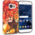 Samsung Galaxy S7 Edge Lion Family TPU Design Soft Rubber Case Cover Angle 1